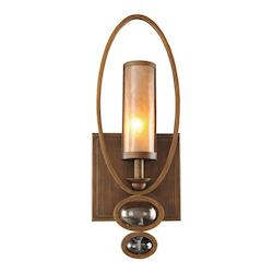 One Light Antique Brass Wall Light - Kalco 6551AB