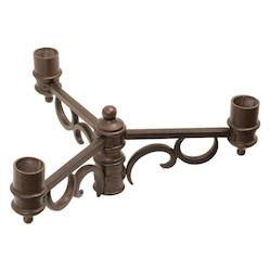 Burnished Bronze Outdoor Triple Post Mount Bracket