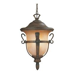 Walnut Tudor Outdoor 3 Light Medium Hanging Lantern