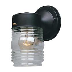 Porch Collection Jelly Jar Wall Light 2061-BK