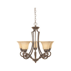 Forged Sienna Five Light Up Lighting Chandelier from the Mendocino Collection