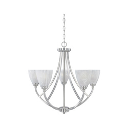 Burnished Bronze 5 Light Chandelier From The Tackwood Collection