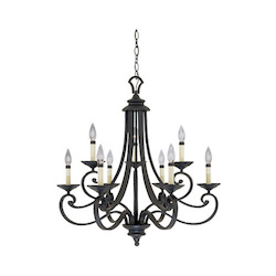 Barcelona Collection 9 Light Chandelier 9039-NI