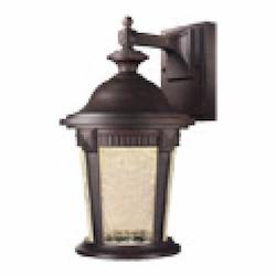 Designers Fountain Clear Crackle Glass Mystic Bronze Wall Lantern - LED21731-MBZ