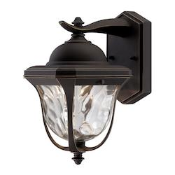 Designers Fountain Aged Bronze Patina Clear Hammered Glass Wall Lantern - LED21931-ABP