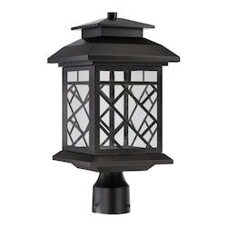 Oil Rubbed Bronze Woodmere 1 Light LED Lantern Post Light