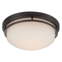 Oil Rubbed Bronze Ramsey 1 Light LED Flush Mount Ceiling Fixtures