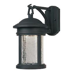 Designers Fountain One Light Oil Rubbed Bronze Clear Crackle Glass Wall Lantern - LED31121-ORB