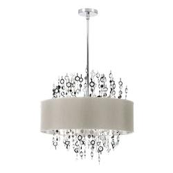 8-Light Crystal Chandelier with Pebble Shade - 178515