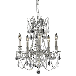 Royal Cut Clear Crystal Rosalia 5-Light