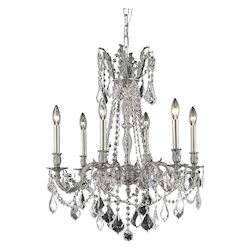 Royal Cut Clear Crystal Rosalia 6-Light
