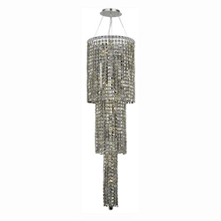 Elegant Lighting 2031G54C-Gt/Ss Swarovski Elements Smoky Golden Teak Crystal Maxim 12-Light, Three-Tier Crystal Chandelier, Finished In Chrome With Smoky Golden Teak Crystals