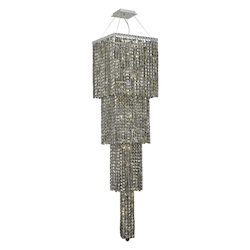 Elegant Lighting 2033G66C-Gt/Ss Swarovski Elements Smoky Golden Teak Crystal Maxim 18-Light, Four-Tier Crystal Chandelier, Finished In Chrome With Smoky Golden Teak Crystals
