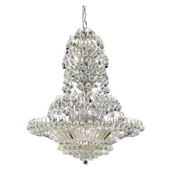Elegant Lighting 2908G36C/Ss Swarovski Elements Clear Crystal Sirius 33-Light, Four-Tier Crystal Chandelier, Finished In Chrome With Clear Crystals