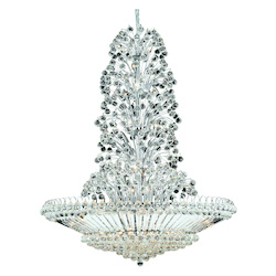 Elegant Lighting 2908G48C/Ss Swarovski Elements Clear Crystal Sirius 43-Light, Four-Tier Crystal Chandelier, Finished In Chrome With Clear Crystals