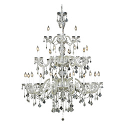 Elegant Lighting 7831G45C/Sa Swarovski Spectra Clear Crystal Alexandria 24-Light, Three-Tier Crystal Chandelier, Finished In Chrome With Clear Crystals