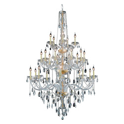 Elegant Lighting 7925G43G/Sa Swarovski Spectra Clear Crystal Verona 25-Light, Three-Tier Crystal Chandelier, Finished In Gold With Clear Crystals