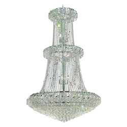 Elegant Lighting Eca1G42C/Sa Swarovski Spectra Clear Crystal Belenus 32-Light, Three-Tier Crystal Chandelier, Finished In Chrome With Clear Crystals