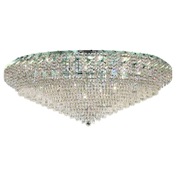 Elegant Lighting Eca4F48C/Sa Swarovski Spectra Clear Crystal Belenus 36-Light, Single-Tier Flush Mount Crystal Chandelier, Finished In Chrome With Clear Crystals