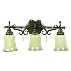 Three Light Peruvian Bronze Vanity - 202507