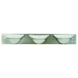 Brushed Nickel Moonglow 3 Light Bathroom Vanity Light - 36 Inches Wide