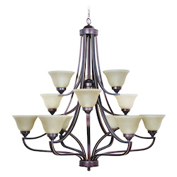 Portia - Twelve Light 3-Tier Chandelier - 202570