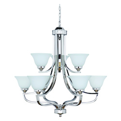Nine Light White Up Chandelier - 202597