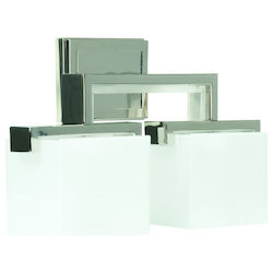 Polished Nickel Kade 2 Light Bathroom Vanity Light - 16.63 Inches Wide