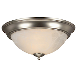 Two Light Brushed Nickel Bowl Flush Mount - 202692