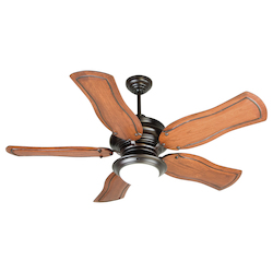 Craftmade Two Light Ob - Oiled Bronze Cased White Glass Ceiling Fan - K10774