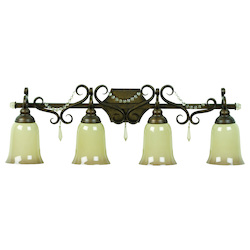 Four Light Peruvian Bronze Vanity - 202913