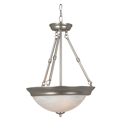Three Light Brushed Nickel Up Pendant - 202914