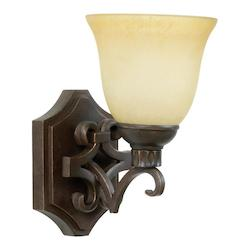 One Light Aged Bronze Wall Light - 202924