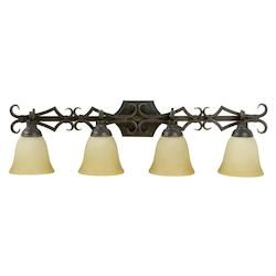 Four Light Aged Bronze Vanity - 202948