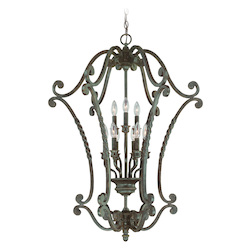 Jeremiah English Toffee Open Frame Foyer Hall Fixture - 22439-ET