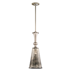 Polished Nickel One Light Bar Pendant From The Argento Collection