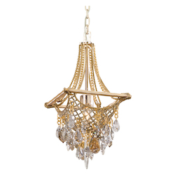 Silver And Gold Leaf One Light Full Sized Pendant From The Barcelona Collection