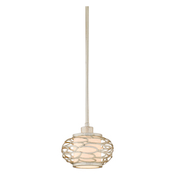 Modern Silver One Light Mini Pendant From The Cesto Collection
