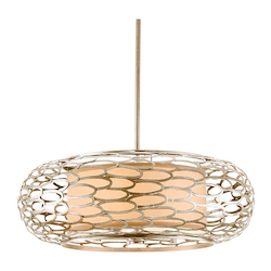 Modern Silver Five Light Hanging Pendant From The Cesto Collection