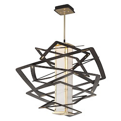 Bronze Tantrum 1 Light LED Pendant with Hand-Crafted Aluminum Frame and Opal Acrylic Diffuser