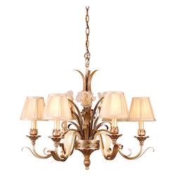 Tivoli Silver Chandelier from the Tivoli Collection