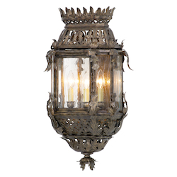Montrachet Bronze Three Light Outdoor Wall Sconce from the Montrachet Collection