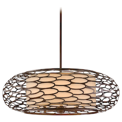 Napoli Bronze Eight Light Hanging Pendant From The Cesto Collection