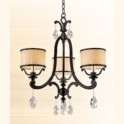 Classic Bronze Three Light Mini Chandelier From The Roma Collection