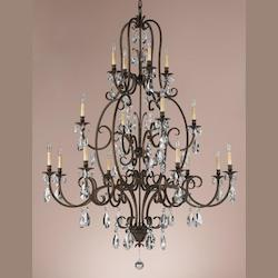 Sixteen Light Aged Tortoise Shell Up Chandelier