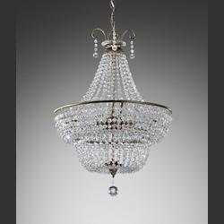 Three Light Burnished Silver Up Chandelier