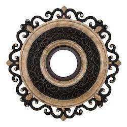 Sterling Walnut 22In. Ceiling Medallion From The Napoli Collection