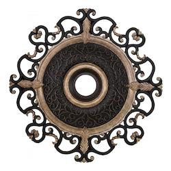 Sterling Walnut 38In. Diamenter Ceiling Medallion From The Napoli Collection