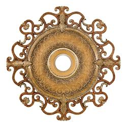 Tuscan Patina 38In. Diamenter Ceiling Medallion From The Napoli Collection