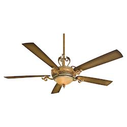 Tuscan Patina 5 Blade 68In. Great Room Ceiling Fan - Wall Control And Blades Included